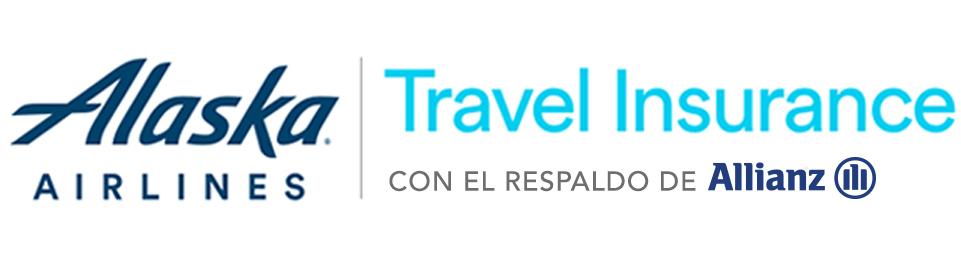 Logotipo deAlaska Airlines y Travel Insurance